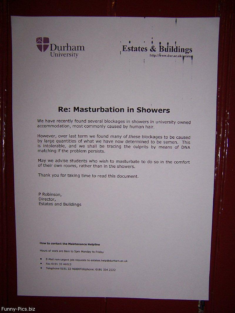 Masturbation in the Showers