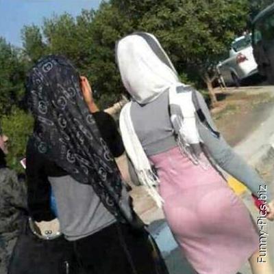 Mind the burqa!