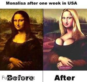 Monalisa after 1 week in USA