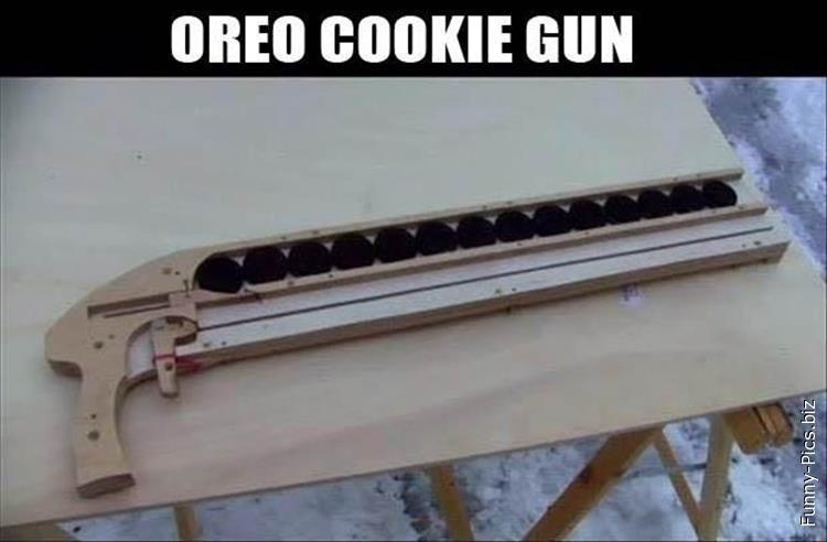 Oreo cookie gun