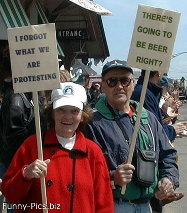 Protest people