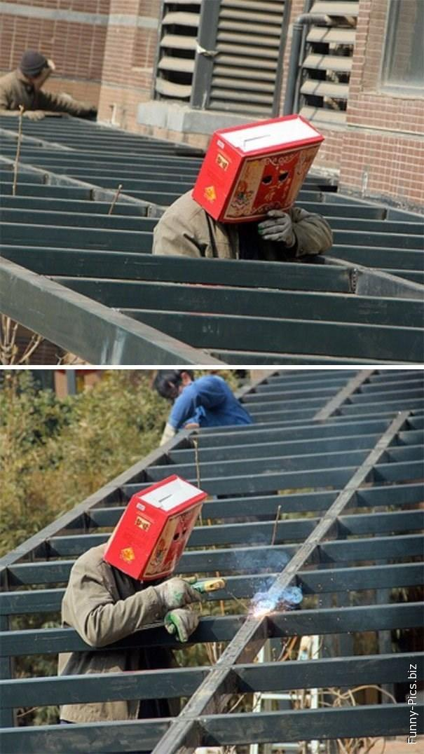 Safety fail: face protection