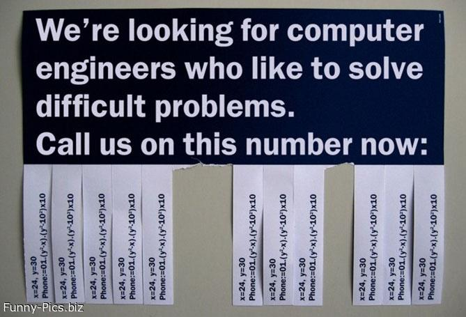 Seeking Intelligent Engineers