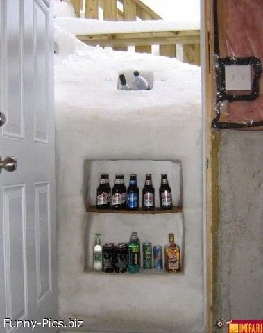 Snow weather = Best place for beers