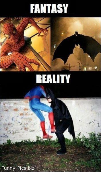 Super Heroes: Fantasy and Reality