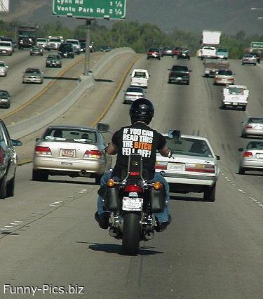 The biker left alone