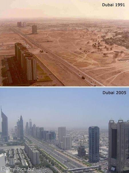Time passing in Dubai
