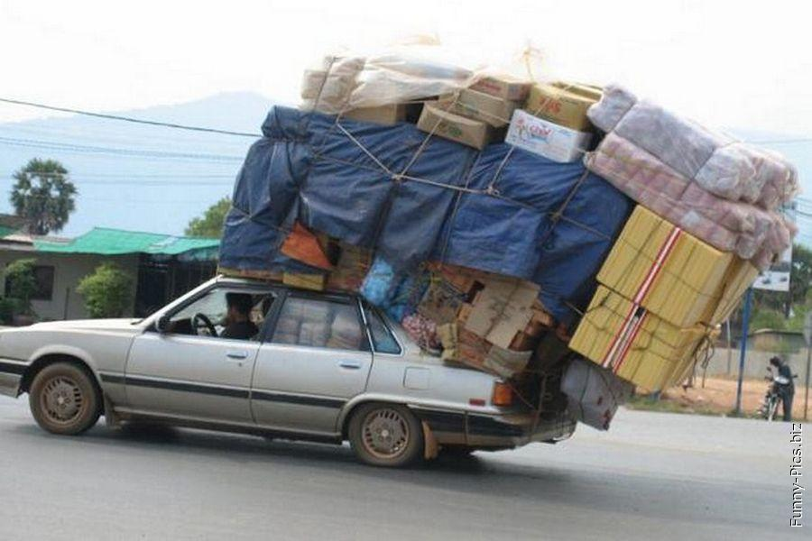Transportation fails: Everything on top!