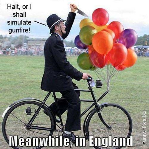 Under arrest in England