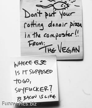 Vegan complaints