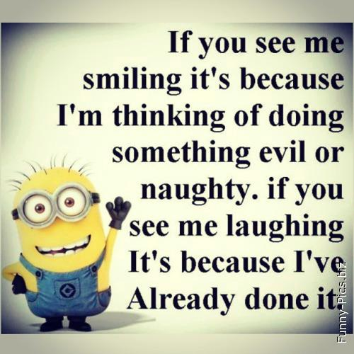 When I smile