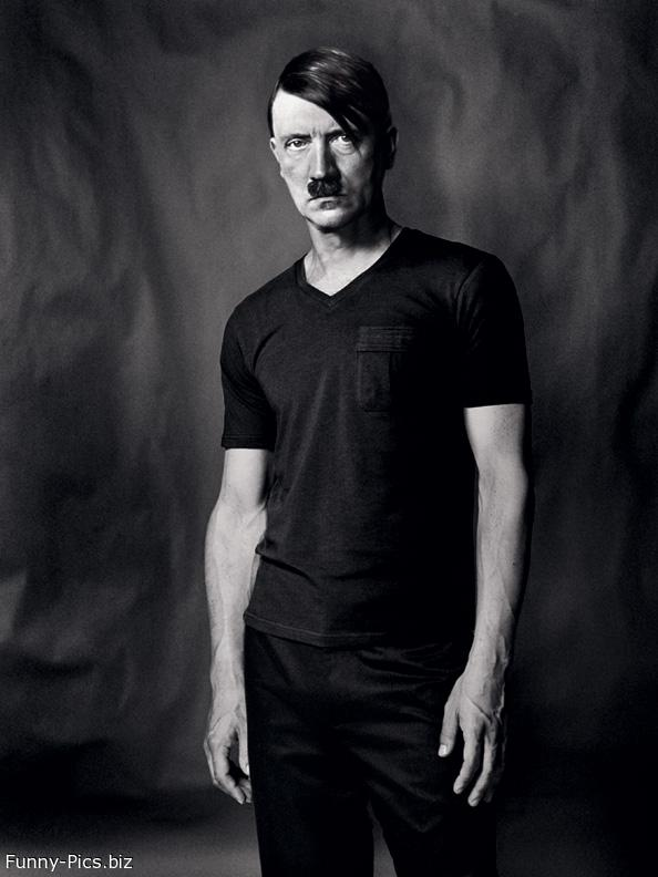 Young Hitler's portrait